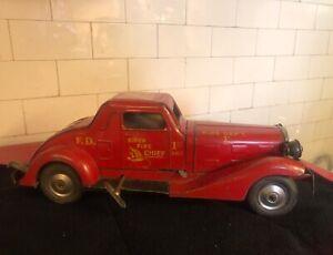 Marx Siren Fire Chief Car-1930's