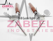 Drill Guide Right & Left 2 PCs SET Veterinary Orthopedic Instrument Zabeelind