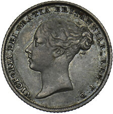 More details for 1853 sixpence (date weak) - victoria british silver coin - nice