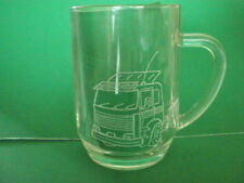 Personalised Freehand Engraved Pint Glass Beer Tankard Lorry / Truck Name FREE