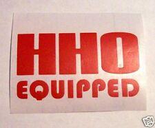 HHO Hydrogen Generator Vinyl Decals Stickers Exterior