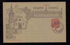 Timor  postal  card  cancelled   1893      DA1111