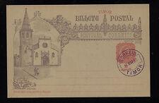 Timor  postal  card  cancelled   1893      DA1111