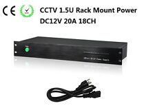 18Channel DC12V 20A 1.5U  Rack Mount Power Supply  CE ROHS For CCTV Camera