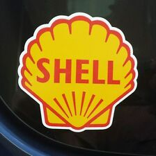 2 Shell Decals, Sticker, Automotive, Motorcycle, Race, Gasoline, Oil, Petroleum