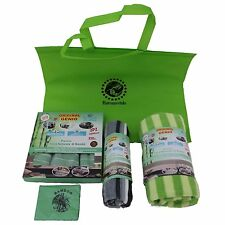 Kit 3 panni bambu' + telo mare + panno pavimenti + panno occhiali + borsa tnt