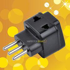 Italy 3 Pin Plug 1 to 2 Splitter Universal UK/US/EU/AU 2 3 Pins Socket Adapter