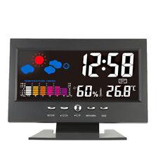 station météo d'intérieur coloré écran LCD thermomètre hygromètre horloge