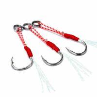 Jigging Assist Hook Hi-Carbon Steel Diy Fishing Hook Use With Fishing Lure Light