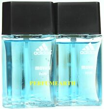 2 Pieces Adidas Moves Him 1.0oz./30ml Edt Spray For Men New And Unbox