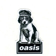 OASIS dog English Rock Band Height 8cm suitcase guitar Decal vinyl sticker