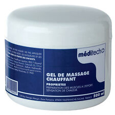 creme de massage CHAUFFANT en pot  500 ML gel de massage