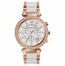 *NEW* GENUINE MICHAEL KORS MK5774 PARKER WHITE DIAL ROSE GOLD LADIES WATCH UK