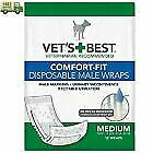 Vet's Best Comfort-Fit Disposable Male Dog Urine Diaper Wrap 12 pk LARGE