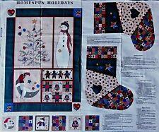 Cranston Christmas HOMESPUN HOLIDAYS Quilt Stockings Ornaments Fabric Panel