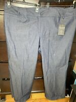 ZAC & RACHEL Womans Size 24W  Dress Pants Slacks Navy Blazer NEW Curvy Fit