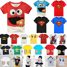 Jungen Kinder T-shirt Tops Pullover Freizeihemd Kurzarm Shirt Kostüm Oberteile