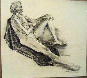 """OLD MAN"" by Freeman GRAPHITE/PENCIL SKETCH  MEASURES 16 1/2"" X 18 1/4"""