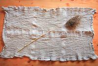 Organic Soft Linen 100% Flax Waffe Towel. Guest hand Towel. Kitchen Tea Towel.