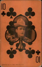 Cowboy Actor - Poker Playing Card Arcade Exhibit Card JACK PERRIN 10 CLUBS