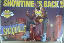 RARE SHAQ SHAQUILLE O'NEAL LAKERS SHOWTIME 1997 VINTAGE ORIG STARLINE NBA POSTER