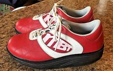 MBT MASAI Mens 8.5 Red & White Leather LIFESTYLE Athletic Walking Sneakers Shoes