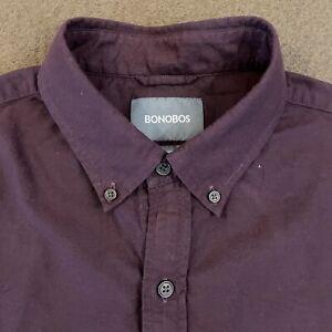 Mens BONOBOS Eggplant Purple Button Down Shirt Medium