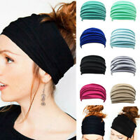 Stirnband Haarband Damen Twist Hair Bands Sommer Stretch Bandana Sport Knoten