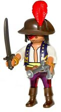 Playmobil 70414 Pirate Hideaway black hair tied back blue vest over white shirt