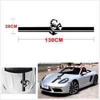 Universal Black DIY Car Racing Hood Scorpion Graphic Vinyl Stripes Decal Sticker