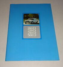 Prospekt Mercedes-Benz W 123 Limousine 200 D / 220 D / 240 D/ 300 D Diesel 1976