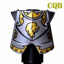 NEW Lego - Castle Figure - Lion Knight Armor - Flat Silver Breastplate