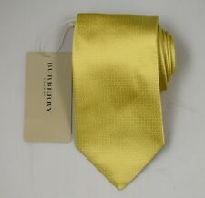"""NEW Burberry GOLD Plaids Mans 100% Silk Tie Authentic Italy Made 3.5"""" 0350127"""