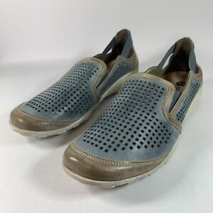 Remonte D1902-94 Womens Slip On Loafers Casual Shoes Metallic Silver Platinum