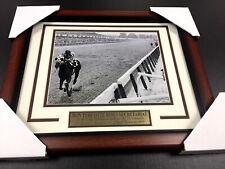 RON TURCOTTE SECRETARIAT TRIPLE CROWN WINNER 1973 FRAMED 8x10 PHOTO BELMONT