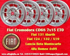 4 Cerchi Fiat Cromodora CD68 7x15 4x98 Wheels Felgen llantas jantes Lancia TUV