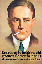 Chesterfield Cigarettes LIGGETT MYERS TOBACCO Company - 1926 Advertising Matted