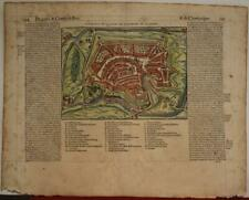 CHAUMONT FRANCE 1575 BELLEFOREST ANTIQUE ORIGINAL WOODCUT VIEW FRENCH EDITION