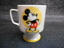 Old Vtg DISNEY MICKEY MOUSE COFFEE CUP Pedestal Mug Advertising  Collectibles