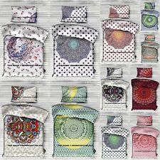 10 PC Wholesale Lot Indian Reversible Mandala Duvet Doona Cover Set Twin Blanket
