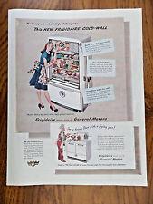 1947 Frigidaire Refrigerator Range Appliance BY General Motors Ad