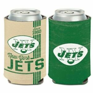 New York Jets NFL Football 2 Sided Can Drink Cooler Koozie NEW