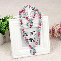 Girls Kids Child Frozen Elsa Anna Necklace Bracelet Set Christmas Birthday Gift