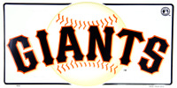SAN FRANCISCO GIANTS EMBOSSED METAL NOVELTY LICENSE PLATE TAG