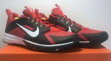 Nike Mens Sz 11.5 Alpha Huarache Turf Baseball University Red Black Shoes 923435
