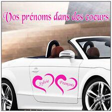 déco voiture  MARIAGE  Coeurs +  Prénoms