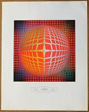 Victor Vasarely Vega Kontosh Vintage Original 1960 1st Print Ltd Ed Litho