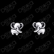 925 Sterling Silver Elephant Lucky Stud Earrings Girls Children Women Studs