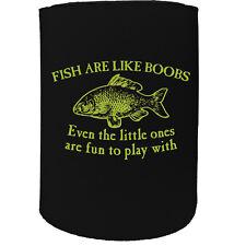 Stubby Holder - Fish Boobs Fishing - Funny Novelty Birthday Gift Joke Beer Can