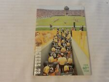 1978 Green Bay Packers Official Media Guide Book Pre-Game Intros on cover